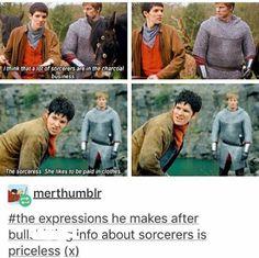 Merlin Show, Merlin Fandom, Merlin Merlin, Watch Merlin, Merlin Memes, Merlin Funny, Merlin And Arthur, King Arthur, Nerd