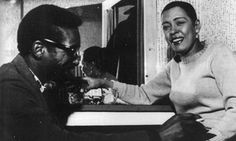 Billie Holiday with her accompanist (pianist) Mal Waldron photographed in London in February 1959, five months prior to her death.