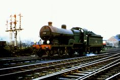 Maunsell class No. At Redhill Shed on the March Photo by Ron Bowyer. Southern Trains, Steam Railway, Southern Railways, Railway Posters, Old Trains, British Rail, Steam Engine, Steam Locomotive, Shed