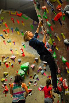 Last year for Chanukah I got Konstantin a credit for a class and day of climbing at Brooklyn Boulders. Climbing Wall, Rock Climbing, Rock Wall, Bouldering, Brooklyn, Walls, Nyc, Places, Check