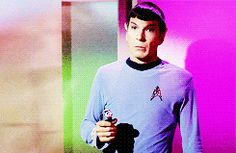 The face Spock makes when he catches Kirk kissing Helen Noel GIVES ME LIFE.