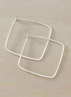 Large Square Hoop Earrings