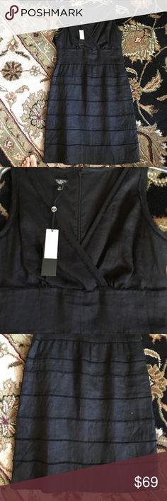 Dress NWT black linen dress Talbots Dresses