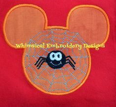 Applique Mouse Spider Web Machine by WhimsicalEmbroidery on Etsy, $4.00