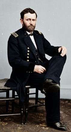 Presidents in Uniform: Ulysses S. Grant, victorious Union general of the Civil War.