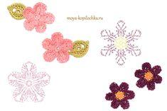100 Crochet Flowers + Diagrams ( Part 1 )