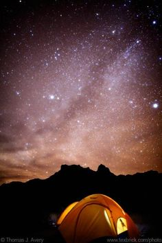 Big Bend camping trip.  Beautiful night skies ... haven't camped there since we were kids, need to go !