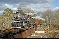 SOU 4501 Southern Railway Steam 2-8-2 at Chattanooga, Tennessee by Steve Jensen Jr.