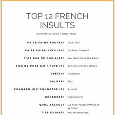 Beautiful French Phrases, French Swear Words, French Words Quotes, French Poems, Basic French Words, How To Speak French, Learn French, Phrases In French, Beautiful French Words