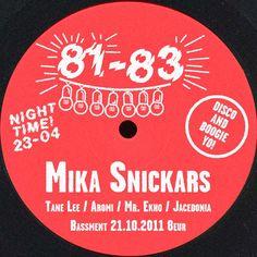 81-83 w/ DJ Snickars 21.10.2011 Dj, 21st, Events