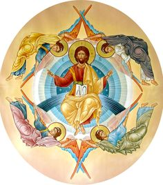 """The first four Archangels (Michael, Gabriel, Raphael, Uriel) stand in the four corners of The Great Throne of God. They protect the four camps of the people of Israel in the wilderness to the North, South, East, and West. They are the angels of the four winds - """"[You] Who maketh His angels spirits [literally, winds]; His ministers a flaming fire"""" -Psalms 104:4"""