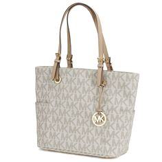 Michael Kors Jet Set Travel Large Vanilla Tote  Travel in style with this elegant bag.
