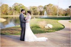 Nashville Wedding Venue on the water. Ceremony Island on the pond.