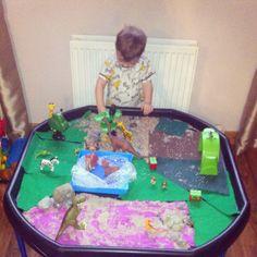Dinosaur small world tuff tray
