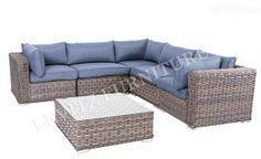 New Arrival Luxury L Shape Outdoor Wicker Lounge. Looks amazing in your garden