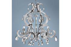 Xanadu Stainless Steel Fredrick Ramond Chandelier - #EUK5216 - Euro Style Lighting