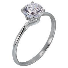 Claire Lutece  - Item Number: R592<br>Platinum<br>.50-2.00 ct<br>Stone Count: 1