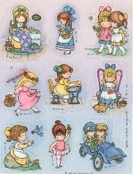 Joan Walsh Anglund...had paper dolls similar to these