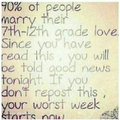 Repost!❤it's so cute tho You just gotta repost. You never know, maybe your worst week could start now!