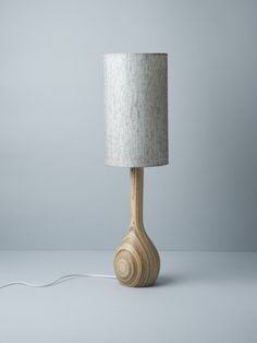 Pepper Hand Turned Table Lamp by Workroom Hand-turned laminated eco-plywood. The turning process reveals individual patterns. With pepper shade. Cool Lighting, Lighting Design, Lighting Ideas, Douglas And Bec, I Love Lamp, All Of The Lights, Light Of My Life, Lamp Bases, Wood Turning