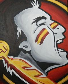 Florida State Seminoles painting sports art college by crockerart, $50.00