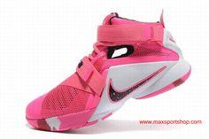 545e0defdc31e Nike LeBron Zoom Soldier 9 Think Pink Basketball Shoes Pink Basketball Shoes