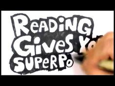 Dav Pilkey (author of Captain Underpants) draws and talks about how reading gives you super powers.