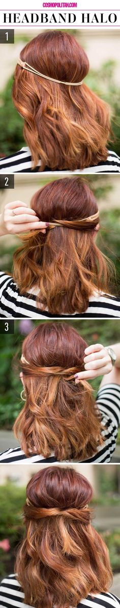 With all the responsibilities you have in your life, it's hard to find some decent time to style your hair. But don't you worry, we brought you some beautiful and chic hairstyles to do when you're in a hurry. It will only take one minute to make one of these.