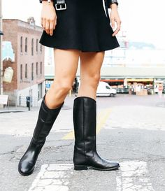 Black:Frye Melissa Button 2 Tall Riding Boots