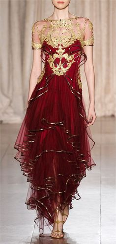 ☆ Beautiful ☆ Roman style red dress