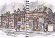 Paul Gent @PaulGent2  Sketch of the Day: Smithfield Market Hall, Swan Street, Manchester, 2012 @mancmade