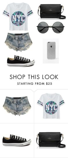 """""""Untitled #79"""" by karenrodriguez-iv on Polyvore featuring One Teaspoon, Aéropostale, Converse, Kate Spade, LA: Hearts, women's clothing, women, female, woman and misses"""