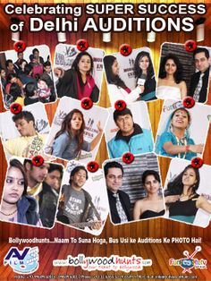 "Celebrating the SUCCESS of Delhi AUDITIONS Thanks for putting your love and support without which the success of Delhi ""AUDITIONS"" would have been impossible. Visit:http://www.bollywoodhunts.com/Contests.aspx"