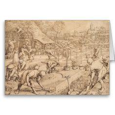 #spring by pieter #bruegel the elder #renaissance #art #greeting #card #greetingcard