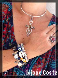 Collier, bague et bracelet Bijoux Coste