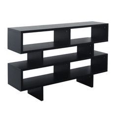 Picture of Wood 4 Tier Soho Shelf - Black