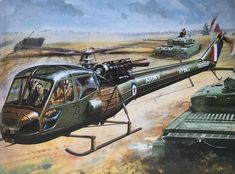 Westland Scout Helicopter, R. Military Art, Military History, Airfix Models, Airplane Art, Cross Art, Ww2 Planes, Military Helicopter, Cross Paintings, Fighter Aircraft