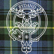 Donald gordon wearing a plaid and kilt of gordon tartan for Buchanan clan tattoo