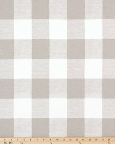"""Classy """"Anderson"""" Large Buffalo Gingham Check Printed Cotton Fabric 54"""" wide......Drapery OR Upholstery........NEW by Trimzz on Etsy"""