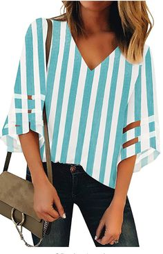 The women casual tops shirt comes with v neck and mesh patchwork design. Blouses for women fashion Flare bell sleeve. Summer tops for women. Please wash it separately with mesh laundry bag. No stretch. Loose Shirts, Loose Tops, Bell Sleeve Blouse, V Neck Blouse, Casual Tops For Women, Blouses For Women, Half Sleeves, Types Of Sleeves, Leopard Print Top