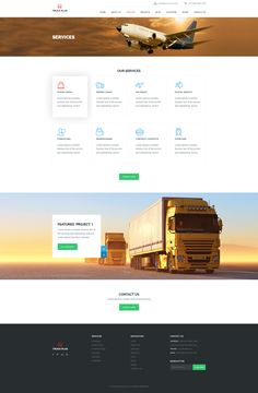 Truck Plus  – PSD template. It's not just PSD, its a new look of soft and clean professionalism for the Transportation and Logistics Service . These designs combine creativity with simplicity on ea...