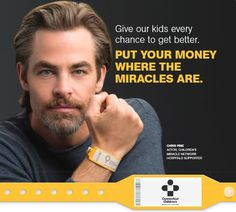 Actor Chris Pine is joining fellow celebrities in spreading the word about children's hospitals and the important role donations play. Join him in making miracles happen at Connecticut Children's. https://connecticutchildrensfoundation.org/