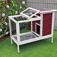 Rabbit Hutch Indoor Bunny Cage Habitat Small Animal Guinea Pig Hideaway New #RabbitHutch