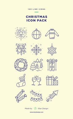 Christmas Line Icon Set. Carefully handcrafted icons usable for digital design or any possible creative field. Suitable for print, web, symbols, apps, infographics. Christmas Doodles, Christmas Icons, Christmas Drawing, Christmas Mood, Merry Christmas, Sketch Note, Holiday Icon, Holiday Pictures, Christmas Illustration