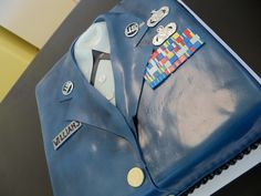 Love the idea of using the mess dress as the cake - a less labor intensive way to do this would be a screen print.
