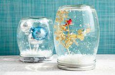 DIY snow globes.