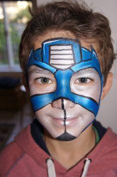 Transformer Optimus Prime - Facepaint -fancy faces by Kaz