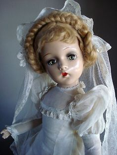 Beautiful Madame Alexander Composition Bride Doll 21""