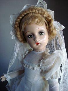 "Beautiful Madame Alexander Composition Bride Doll 21"""
