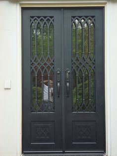 Our work on display. House Main Door Design, Main Entrance Door Design, Door Gate Design, Door Design Interior, Grill Gate Design, Balcony Grill Design, Window Grill Design, Wrought Iron Security Doors, Wrought Iron Doors